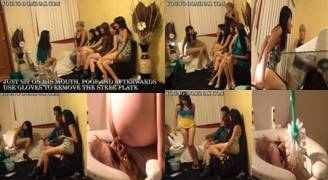 Girls extremely use the toilet slave