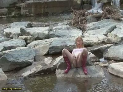 Queen Lucilla Pissing in a River