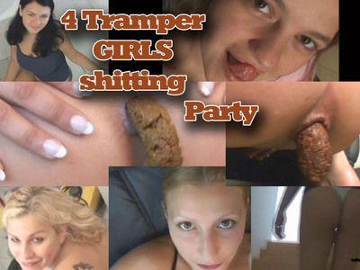 4 Trampergirls shitting adventures