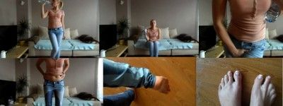 23277 - wetting jeans in living room