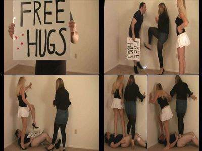 9730 - Free Hugs Get A Kick In The Nuts